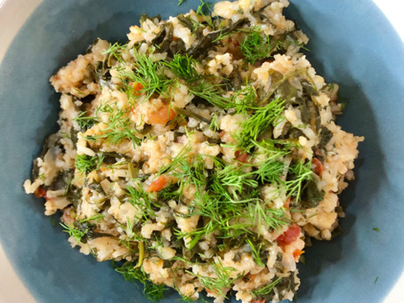 "Spanakorizo ""Spinach Rice"""