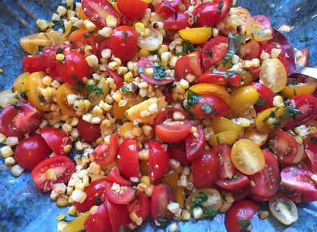 Recipe: Farmers' Market Heirloom Tomato & Grilled Corn Salad