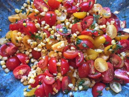 Recipe: Farmers' Market Heirloom Tomato & Grilled Corn Salad