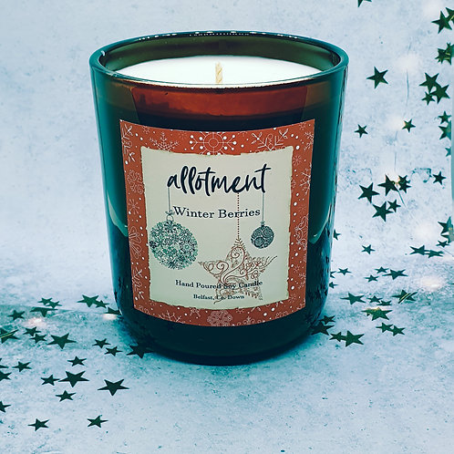 Winter Berries Soy Wax Candle