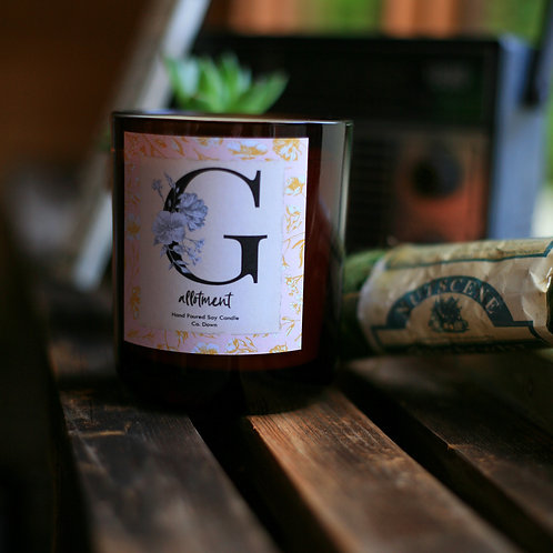 Pink Monogram Scented Candle
