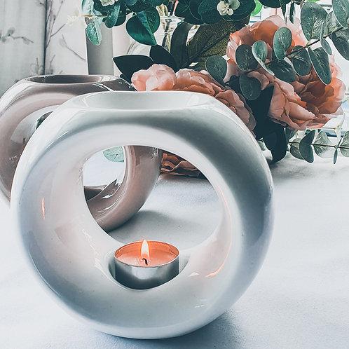White Orb Ceramic Burner