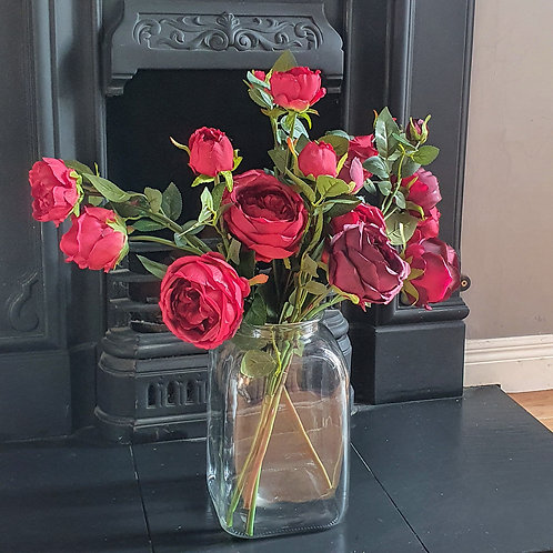 high quality faux flowers red roses