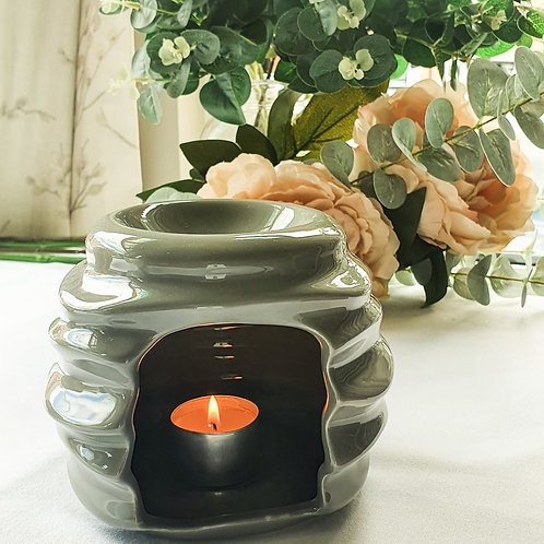 Grey Beehive Ceramic Burner