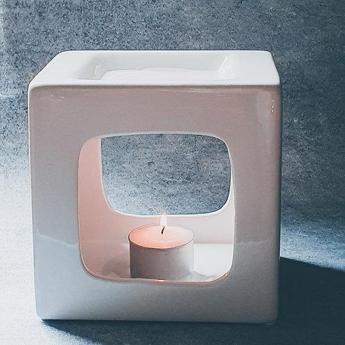 White Square Ceramic Burner