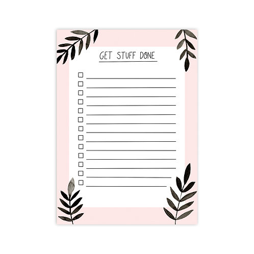 Get Stuff Done A6 Notepad