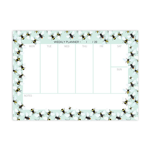 Busy Bee Weekly Planner Notepad