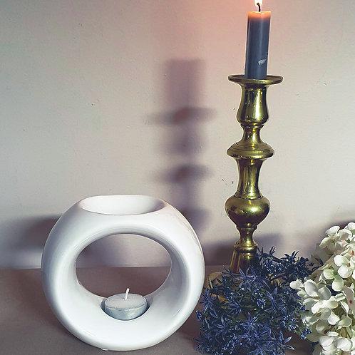 White ceramic wax melt burner