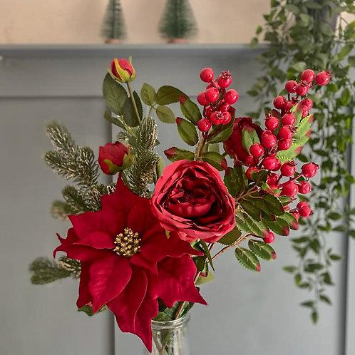 'Berries & Roses' Winter Posy