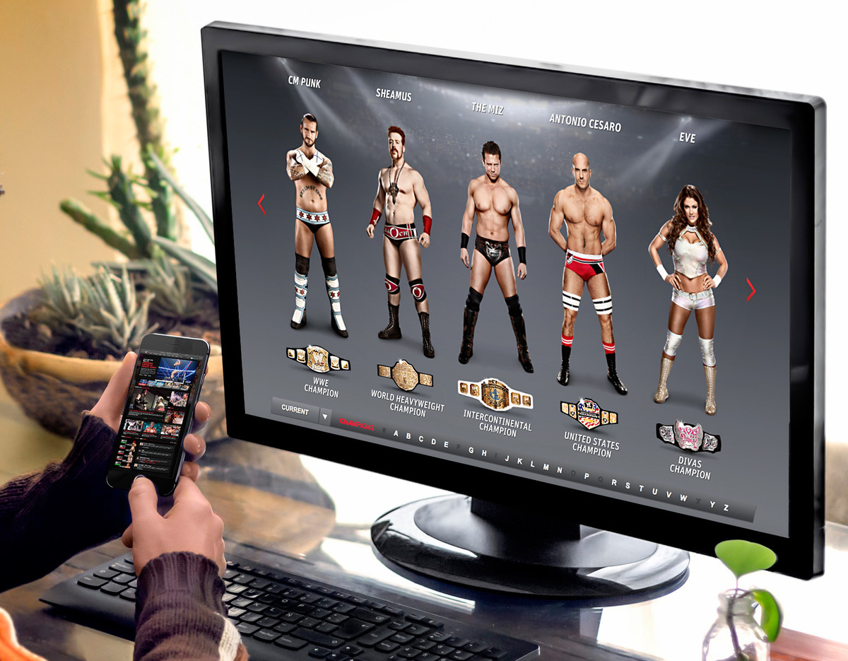 WWE: Touch Experience + Website Redesign
