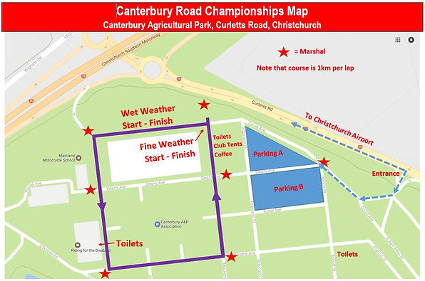 2020 Canterbury Road Champs course map.J