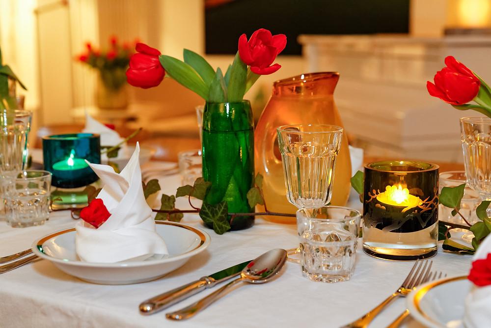 Hochzeitsdeko, Tischdeko, Detailaufnahmen, Hochzeitsessen, Hochzeitsfest