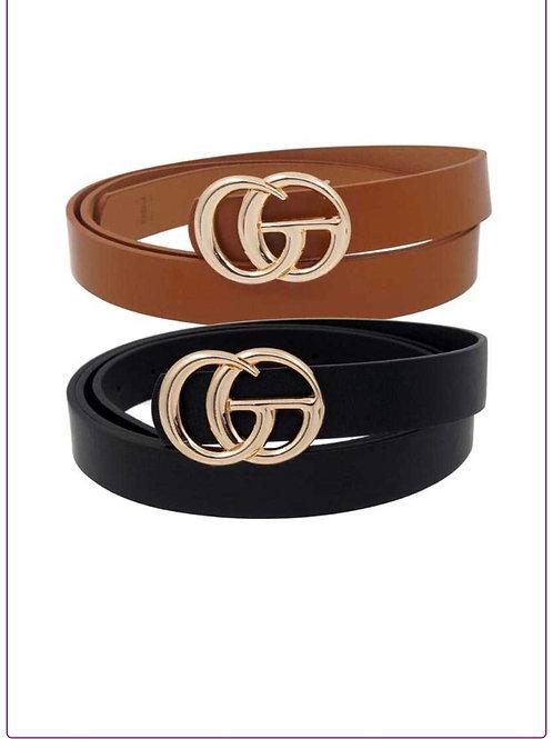 Golden G Metallic Fashion Belt