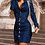 Thumbnail: Denim Long Sleeve Buttoned Top & Skirt Sets