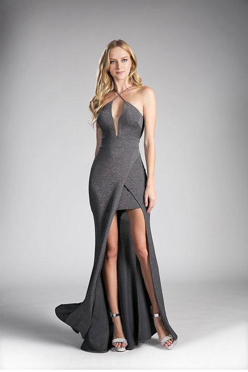 Metallic knit sheath dress