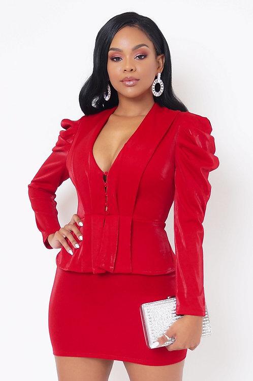 Alexa Mini Dress - Red
