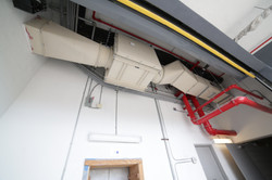 Flamebar duct and fan enclosure