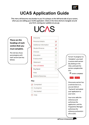 UCAS 2021 Application Guide website vers