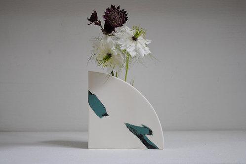 Arc Shape Vase in Jade Green and Black