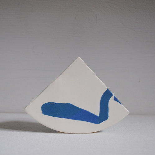 Second - Shape Vase in Blue and Teal