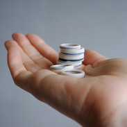 Stack of Minimal Porcelain Rings