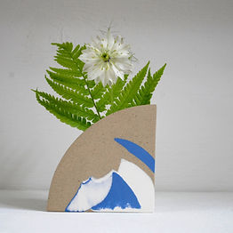 Arc Vase in Blue and White