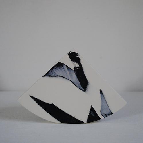 Summit Shape Vase in Black and White