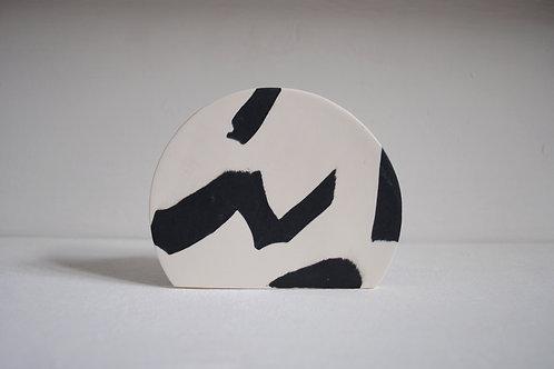 Second - Sunrise Vase in Black and White Stoneware