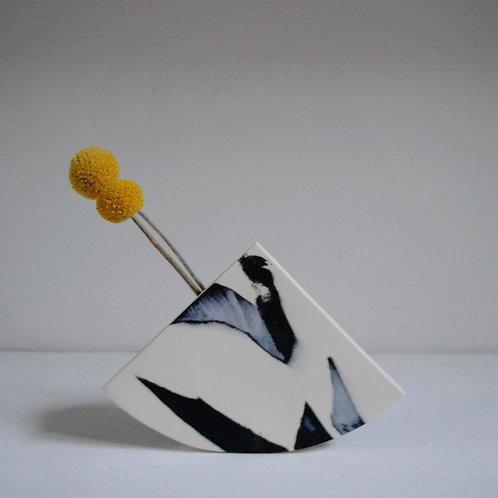 Shape Vase in Black and White