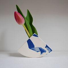 Blue and White Summit Vase