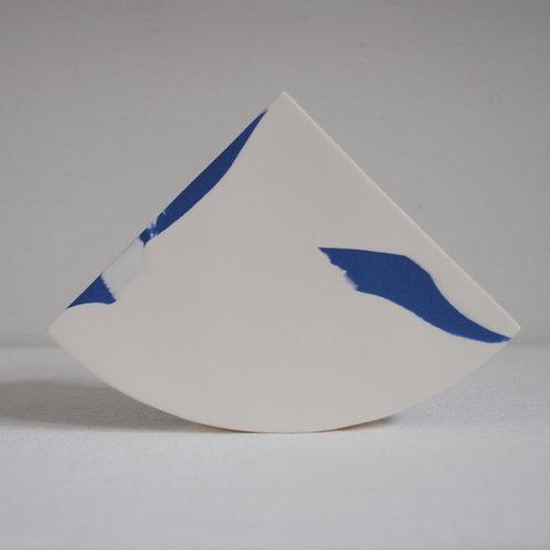 Summit Shape Vase in Blue and White Stoneware