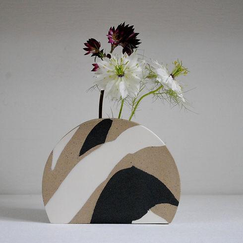Black and White Sunrise Vase