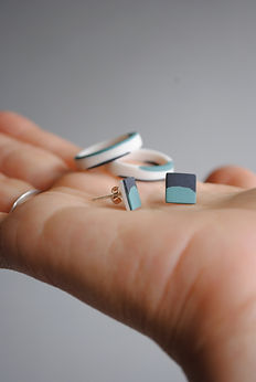 Porcelain rings and Earrings
