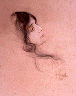 Eleonora Duse by Von Lenbach