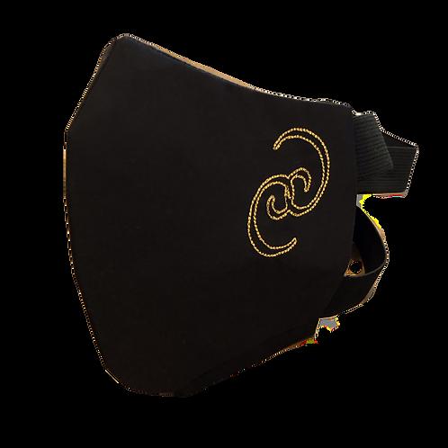Black Logo Adjustable Cotton/Polypropylene Mask