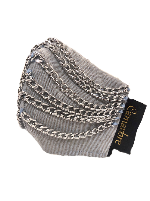 Chain Denim Cotton/Polypropylene Mask