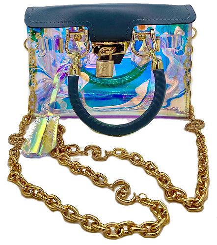 Translucent LaShawn Cosmetic Logo Chain Bag