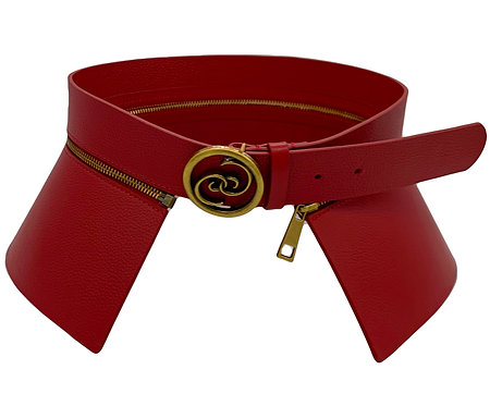 Red Logo Detachable belt