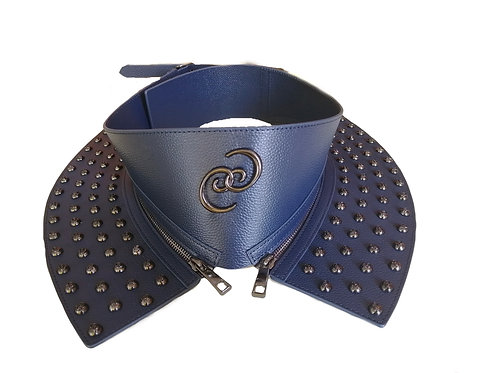 Blue Rivet Corset logo belt