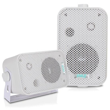 3.5'' Indoor/Outdoor Waterproof On-Wall Speakers (White)