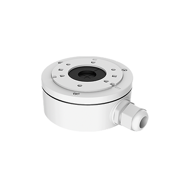 White Metal Housing Base Mount Junction Box for CCTV Dome Cameras