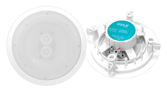 "8"" Weather Proof 2-Way In-Ceiling / In-Wall Stereo Speaker (Single Speaker)"