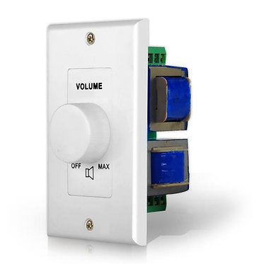 Wall Mount Volume Control, In-Wall Rotary Speaker Volume Knob
