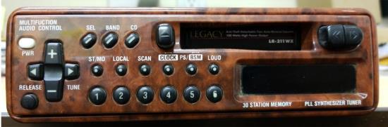 AM/FM-MPX Detach Face Semi-Logic Auto Rev Cass Player-Wood Finish