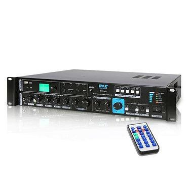 750W PA Amp w/ 5 Mic Inputs,USB SD AUX Input & 4 Ohm, 8 Ohm, 70V, 100V Outputs