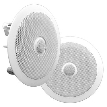"In-Wall / In-Ceiling Dual 8"" Directable Tweeter, 2-Way, Flush Mount, White"