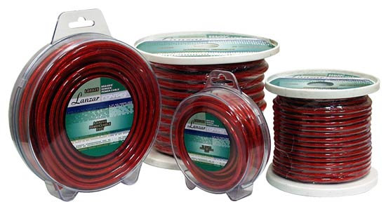 Contaq 10 Gauge 25ft Braided Screen Red Power Cable