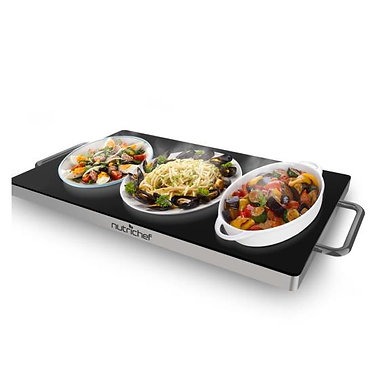 Electric Warmer / Food Warmer with Non-Stick Heat-Resistant Glass Plate