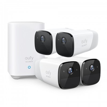4 Camera EufyCams2 Battery Powered Wire Free 1080p System