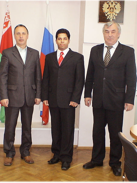 Danushka Cooray Chairman, Rector and Vice Rector of University of Russia